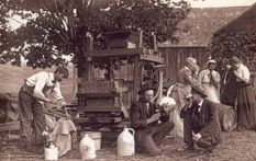 historic cider pressing photo circa Dummerstown, Vermont